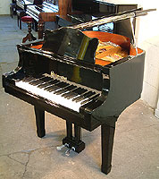 Schoenhut grand piano For Sale with a black case and polyester finish