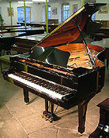 Yamaha C6 Grand Piano For Sale with a black polyester finish
