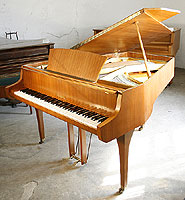 Schimmel Grand Piano For Sale with a teak case