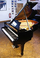 Brand New Steinway Model M Grand Piano For Sale with a black case