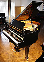Fazioli F156 Grand Piano  with a black case and polyester finish