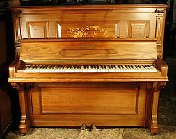 Inlaid, Grotrian Steinweg Nachf Upright Piano