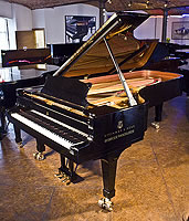 Pre-owned Steinway Model D Concert Grand Piano For Sale with a black case