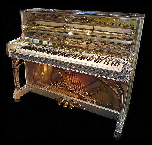 Gary Pons SY 115 Royal Upright piano made from transparent ...