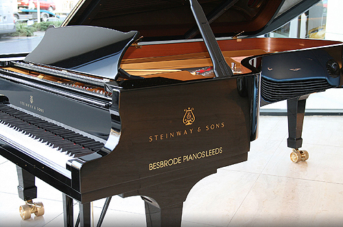 Steinway Model Concert Grand Piano available for hire, chosen by Barry Douglas
